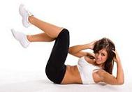 doing crunches to burn stomach fat